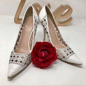 Kate Spade White High Heel pumps Size 8.5